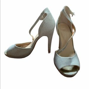 Sparkly strap heels size 6 Le chateau